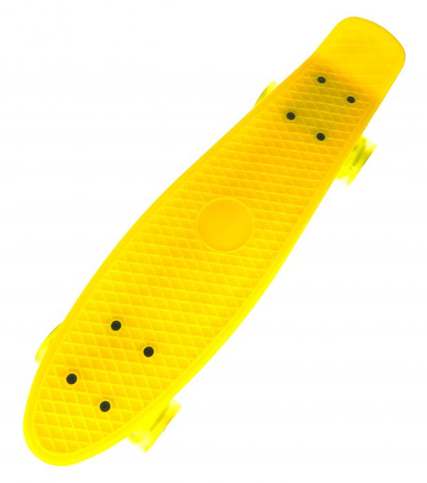 Penny Board cu roti luminoase LED, 55 cm, Galben, Toyska [1]