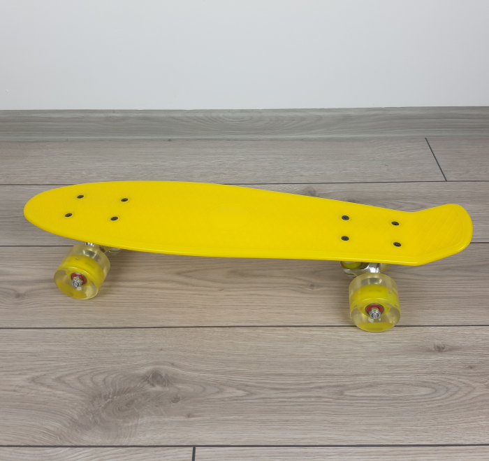Penny Board cu roti luminoase LED, 55 cm, Galben, Toyska [2]