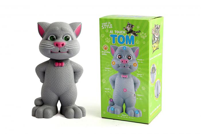 Jucarie Talking Tom, motanul inteligent vorbitor, 22 cm, Toyska [1]