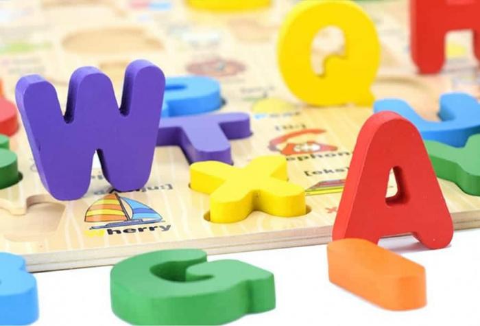Puzzle lemn Alfabet 3D litere mari, Toyska [2]