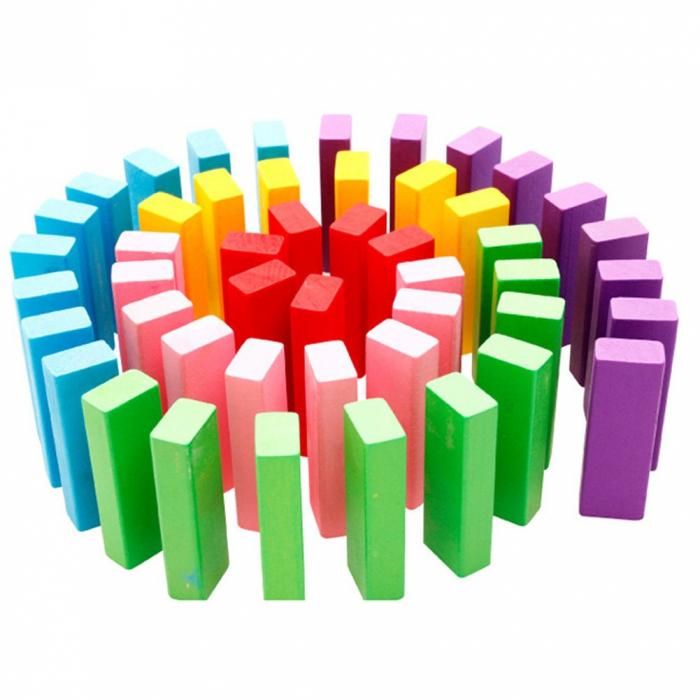Cuburi Lemn Jenga Turnul Instabil Colorate, Toyska [4]