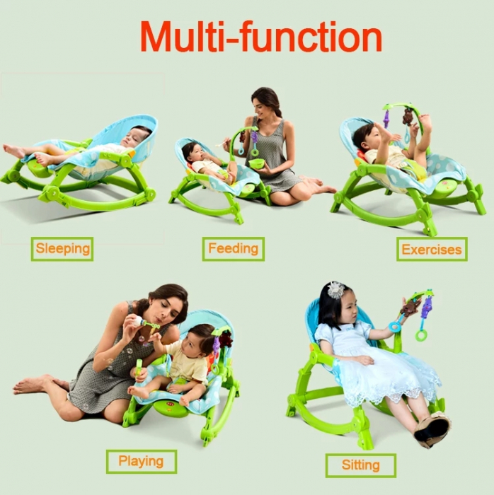 Balansoar portabil 2 in 1 Newborn to Toddler, vibratii, Toyska [3]