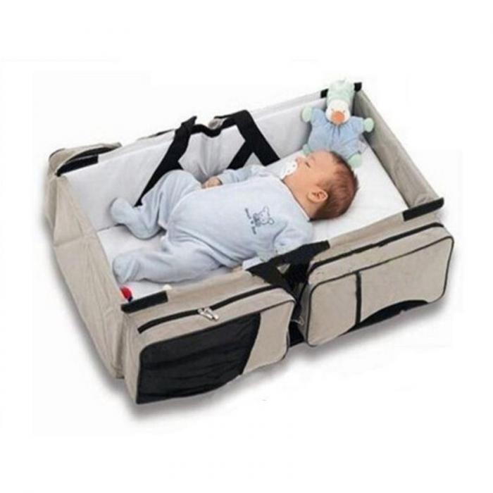 Geanta multifunctionala 3 in 1 Baby Travel, Beige, Toyska [0]