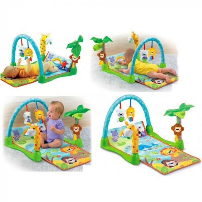 Saltea de joaca 3 in 1 Smart Baby, Muzicala, Toyska [1]