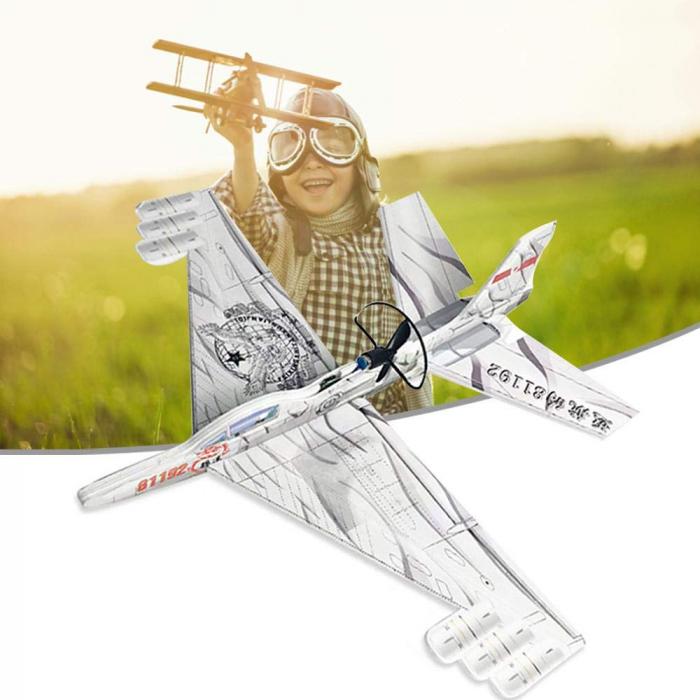Avion planor din polistiren, lumina LED si elice, Incarcare USB [1]