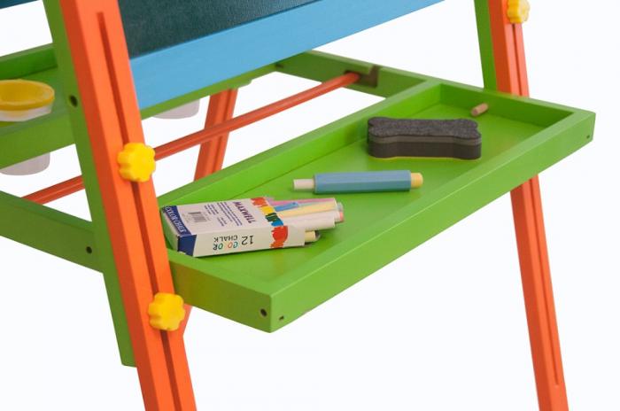Tabla educativa reglabila din lemn, 3 in 1 sevalet, 130x57 cm [3]