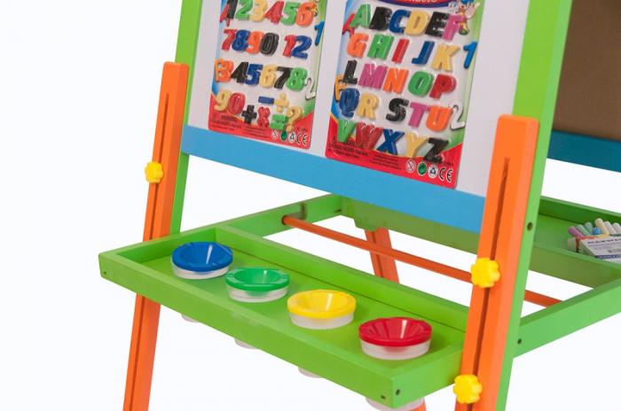 Tabla educativa reglabila din lemn, 3 in 1 sevalet, 130x57 cm [1]