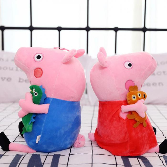 Set 4 jucarii de plus tip breloc Peppa Pig , 15 cm [1]