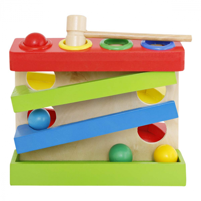 Jucarie lemn Pista cu bile Four Play Station [3]
