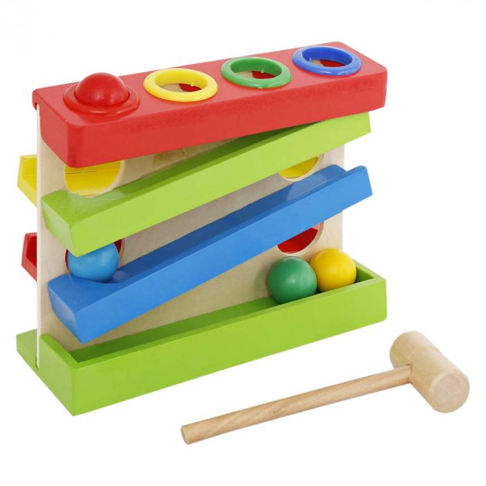 Jucarie lemn Pista cu bile Four Play Station [2]