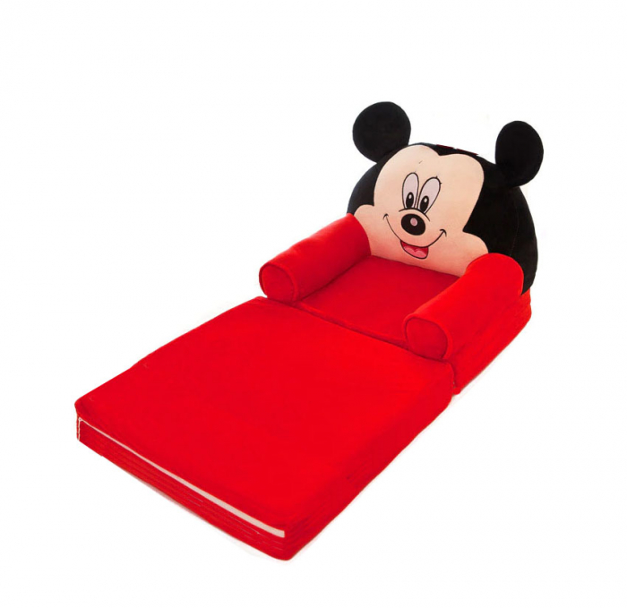 Fotoliu extensibil din plus Mickey Mouse, 80x50 cm [3]