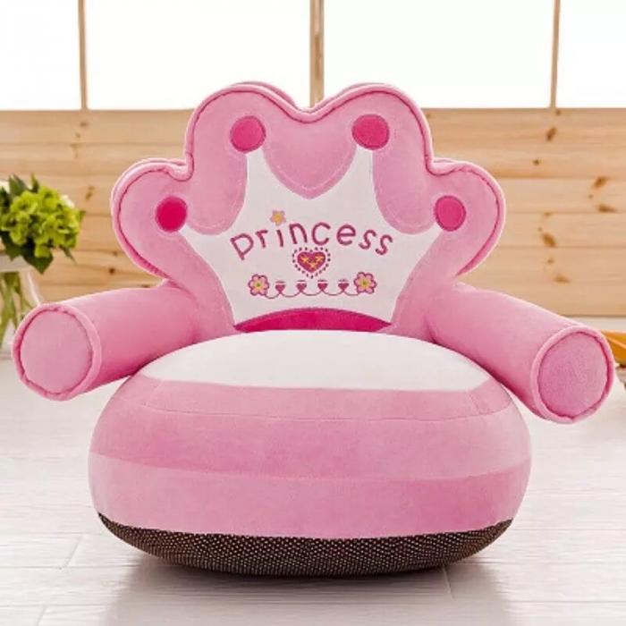 Fotoliu din plus pentru copii, Princess,Roz [1]