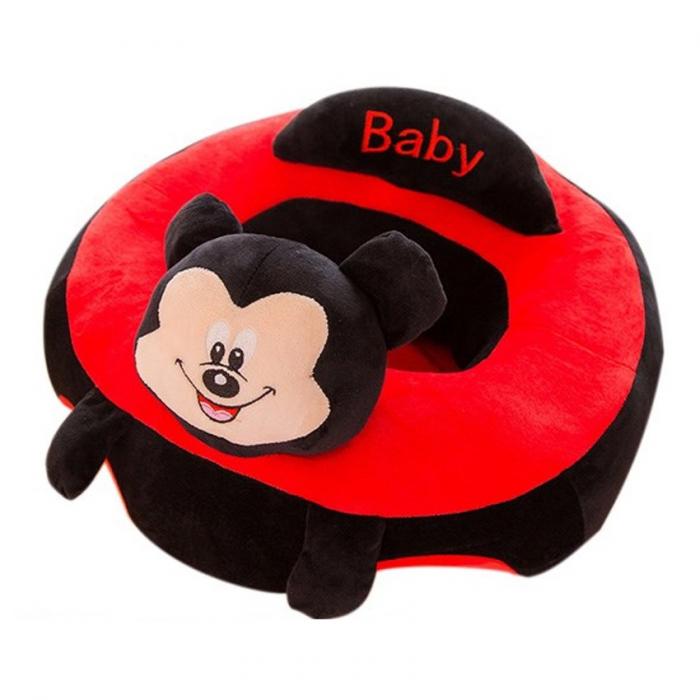 Fotoliu din plus pentru bebelusi Mickey Mouse, negru/rosu [2]