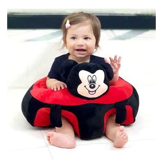 Fotoliu din plus pentru bebelusi Mickey Mouse, negru/rosu [1]