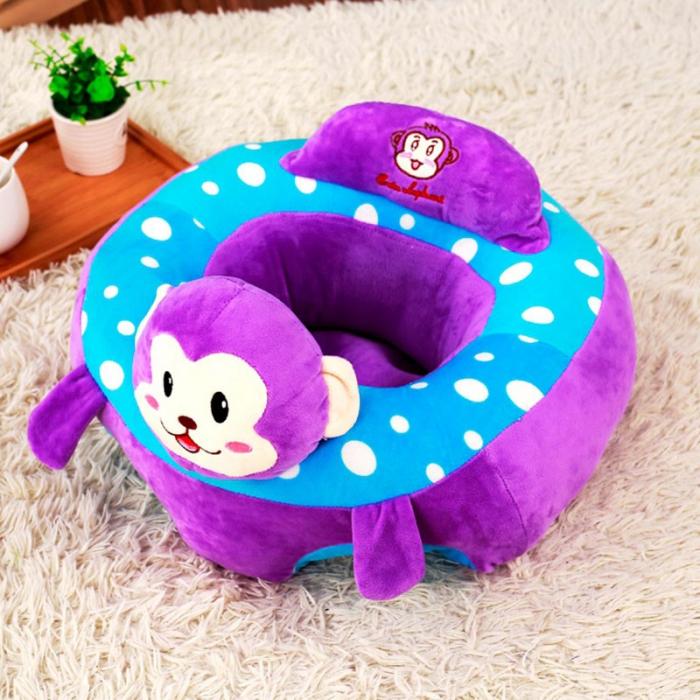 Fotoliu din plus pentru bebelusi Maimutica, mov [0]