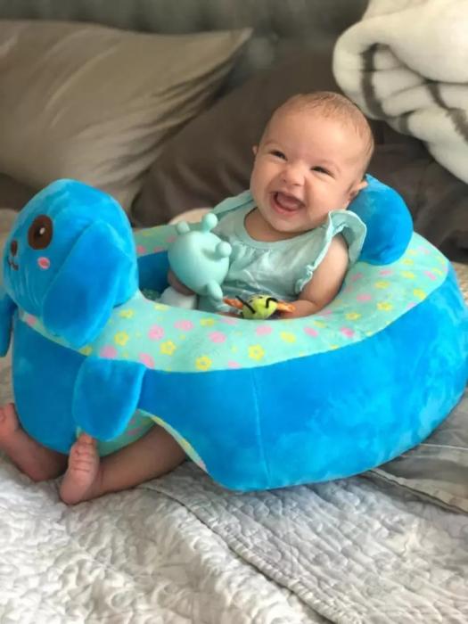 Fotoliu din plus pentru bebelusi Catel, albastru [2]