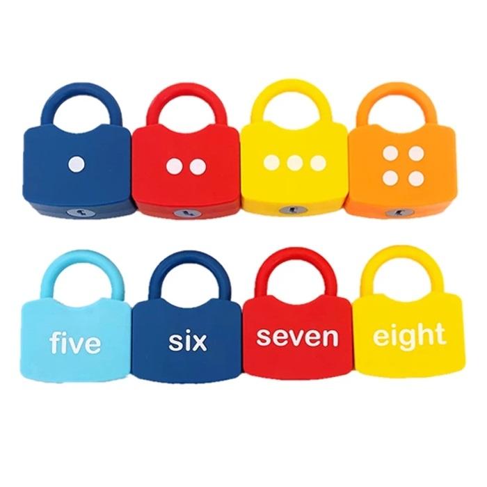 Joc Montessori Cifre cu Incuietori, 20 piese [4]