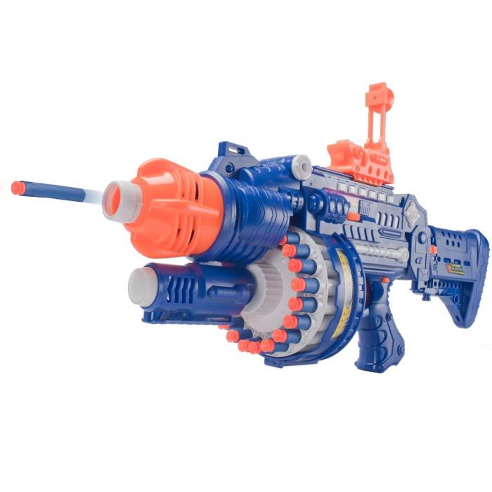 Pusca automata Blaster Sharp-Shooter, gloante cu ventuze din spuma, multicolor [4]
