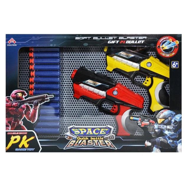 Set 2 Pistoale Space Blaster, gloante cu ventuze din spuma, multicolor [2]