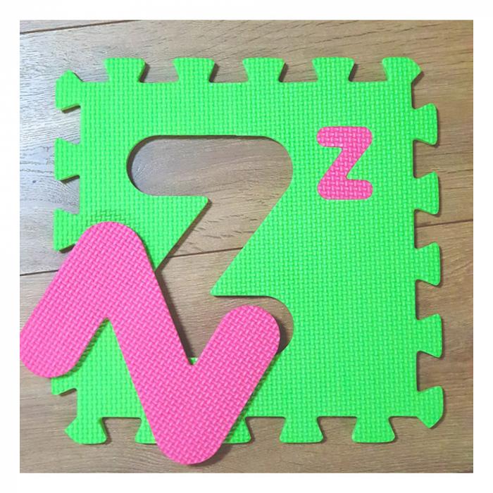 Covoras de joaca puzzle termic si educativ Alfabet, 26 piese, 30x30 cm, multicolor [2]