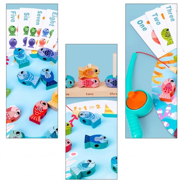 Joc educativ de Pescuit magnetic, Kitten Fishing, multicolor [4]