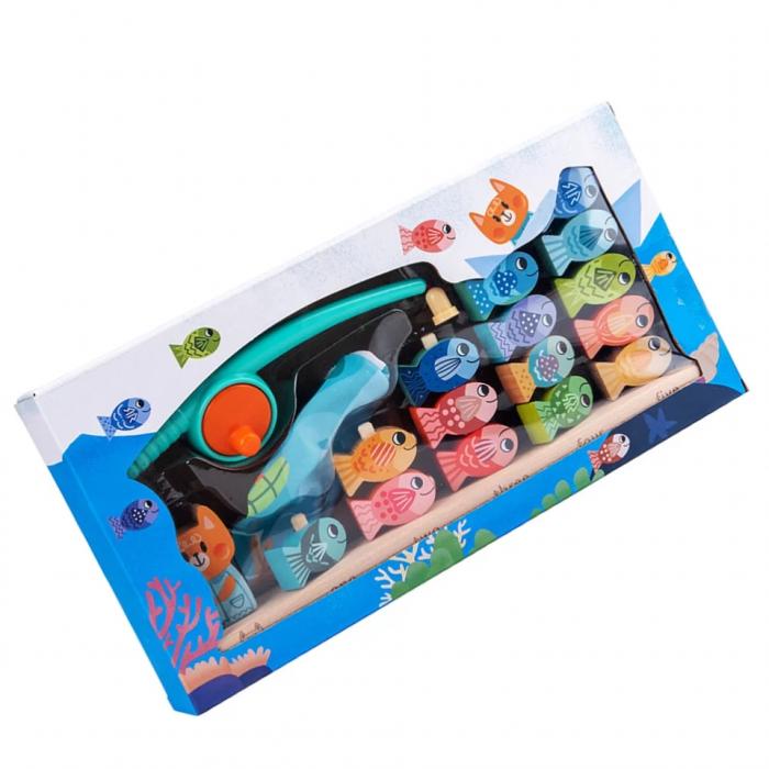Joc educativ de Pescuit magnetic, Kitten Fishing, multicolor [5]