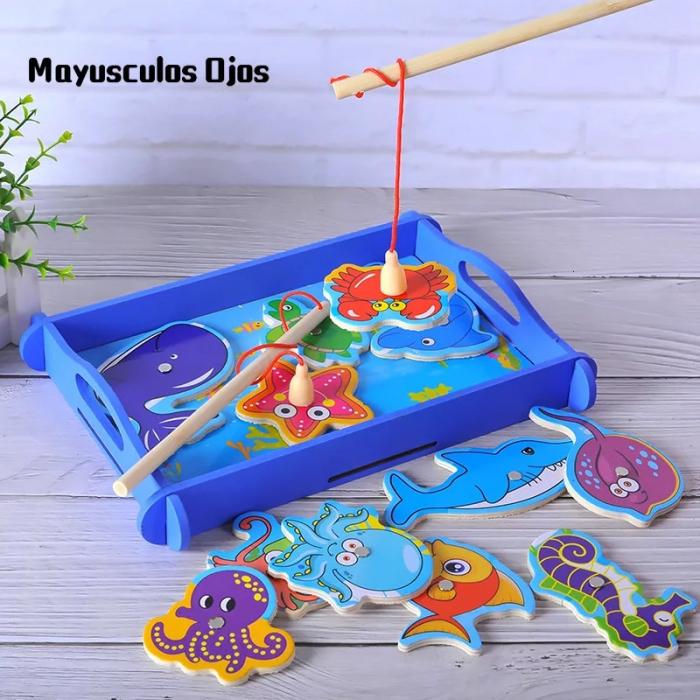 Joc educativ din lemn Pescuit Magnetic, Toyska [2]