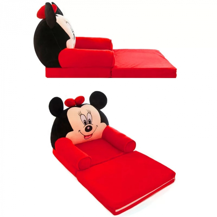 Fotoliu extensibil din plus Minnie Mouse, 80x50 cm [2]