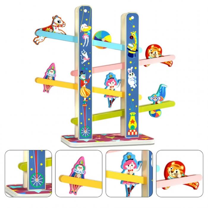 Casada Acrobatilor Jucarie din lemn, Pista cu etaje, multicolor [1]