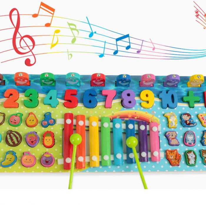 Joc Logarithmic 5 in 1 cu Xilofon, multicolor [4]