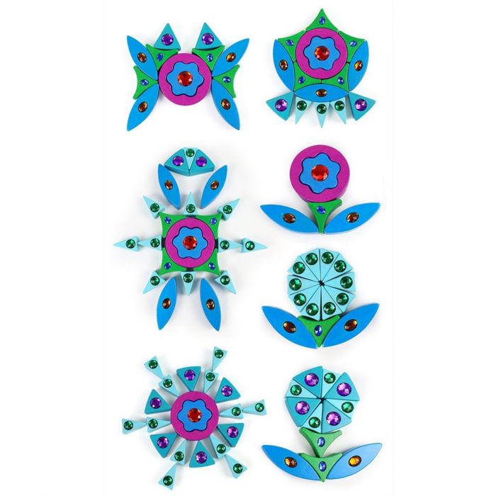 Joc Puzzle Creativ din lemn Mandala, multicolor [3]
