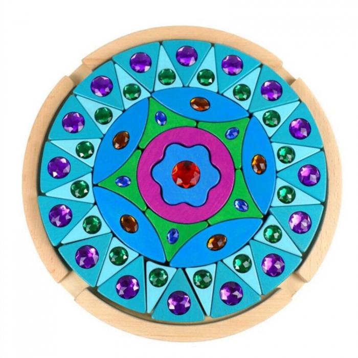 Joc Puzzle Creativ din lemn Mandala, multicolor [0]