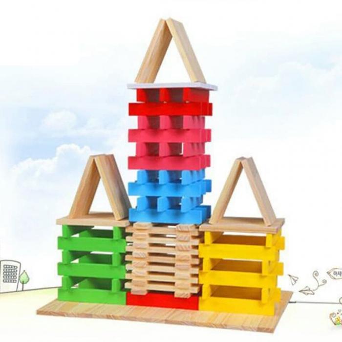 Constructie creativa 150 de cuburi din lemn [5]