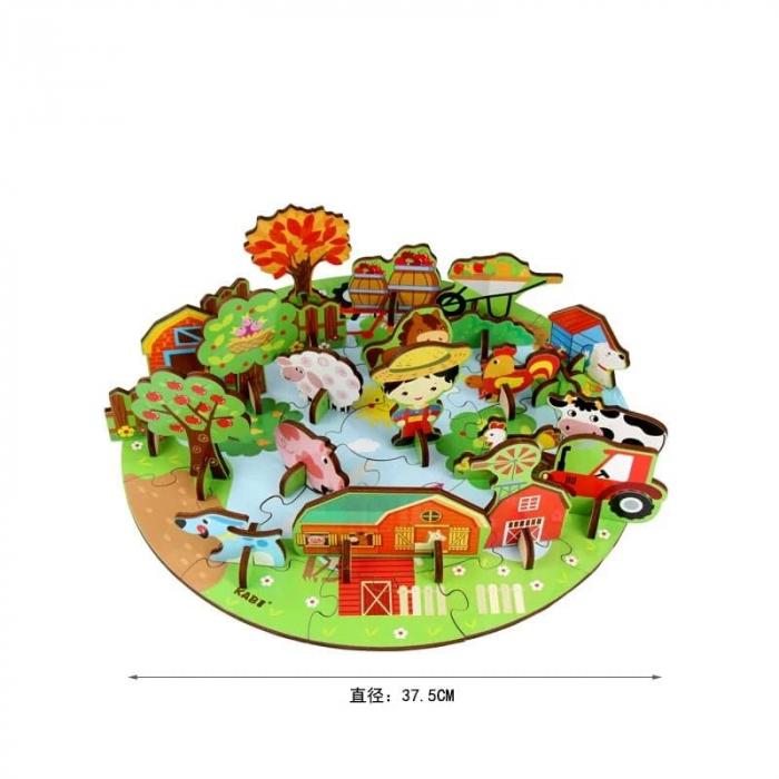 Puzzle din lemn 3D [3]