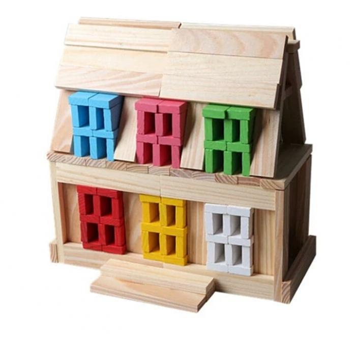 Constructie creativa 150 de cuburi din lemn [1]