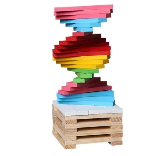 Constructie creativa 150 de cuburi din lemn [2]