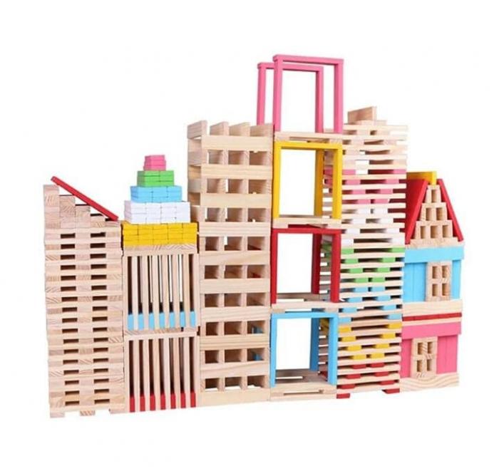 Constructie creativa 150 de cuburi din lemn [0]