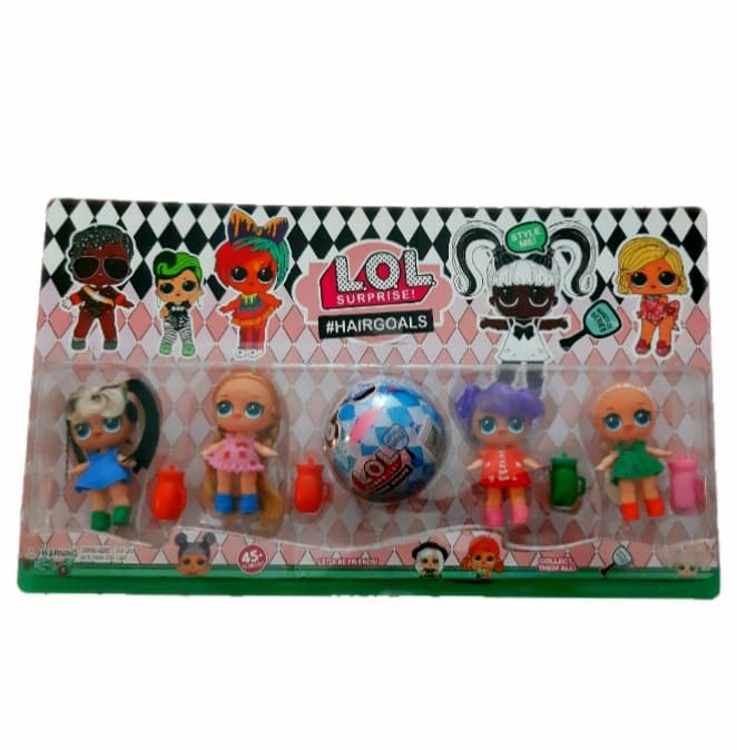 Set 4 figurine LOL cu par, accesorii + capsula LOL SURPRISE!! [0]