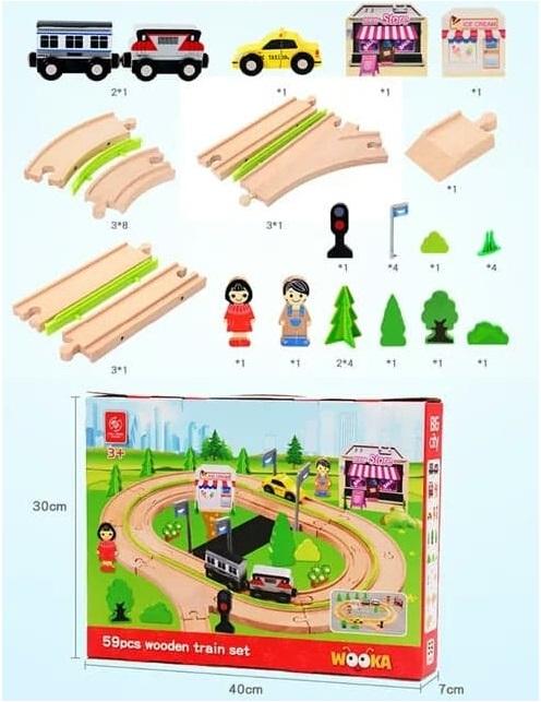 Circuit din lemn 59 piese [4]