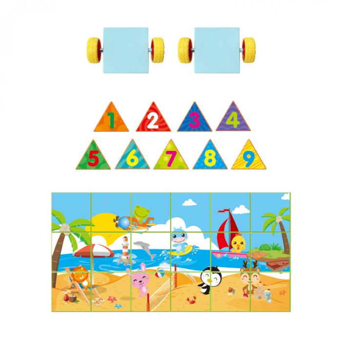 Joc constructiI magnetice si puzzle Magnetic Cubes 29 piese [4]