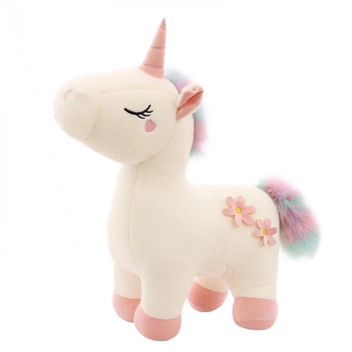 Jucarie de plus Unicorn, 45 cm,alb, Toyska [1]