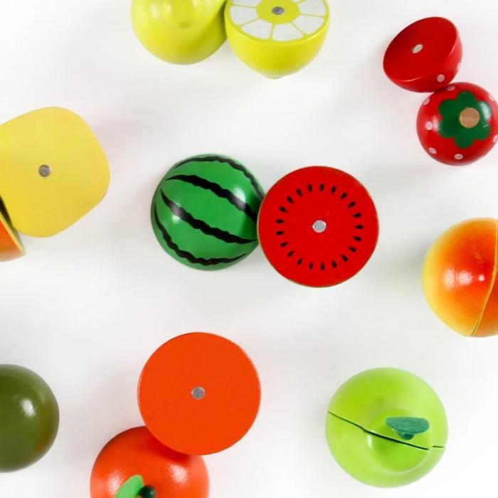Jucarie lemn Cosuletul cu Fructe de feliat, Toyska [4]