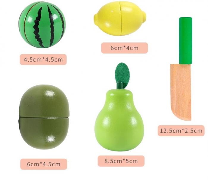 Jucarie lemn Cosuletul cu Fructe de feliat, Toyska [1]