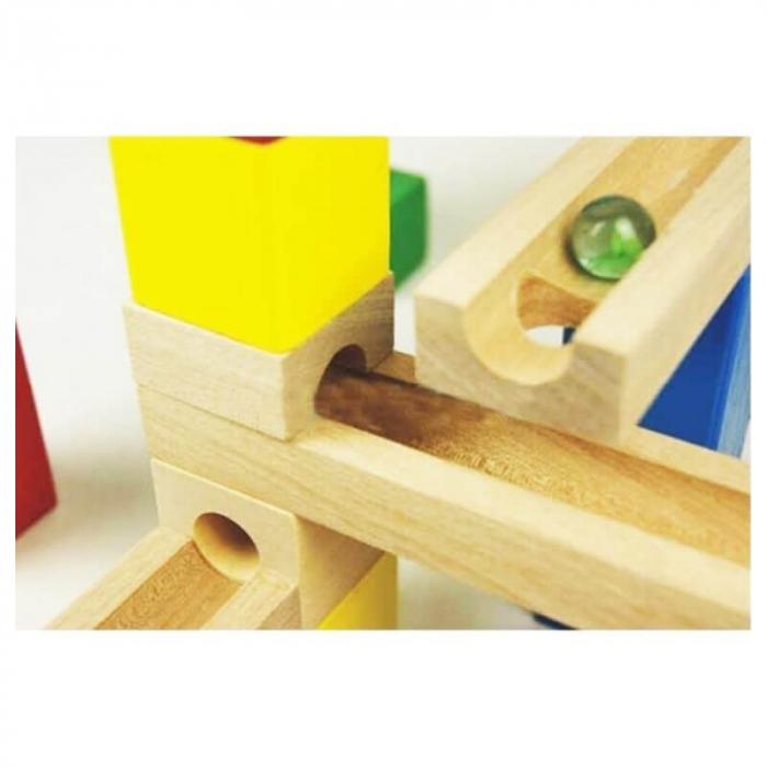 Circuit cu bile din lemn 33 piese [2]