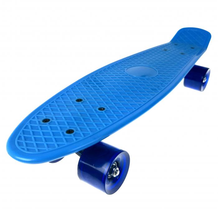 Penny Board ABEC-7, 56 cm, Albastru, Toyska [2]