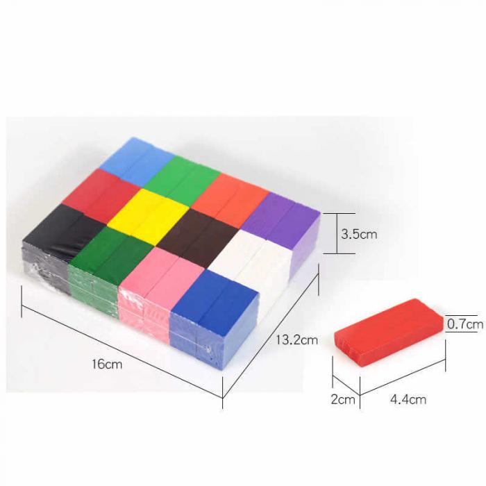 Joc din lemn, Domino cu piese colorate, 600 piese [1]
