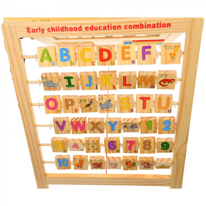 Jucarie de invatat, tablita creta si marker, matematica, alfabet, citire ceas - MMM380 [0]