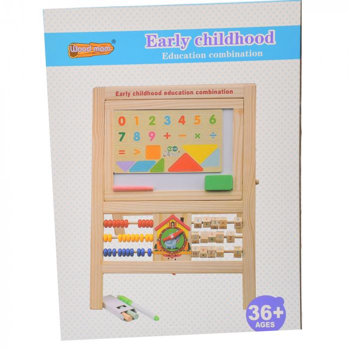 Jucarie de invatat, tablita creta si marker, matematica, alfabet, citire ceas - MMM380 [3]