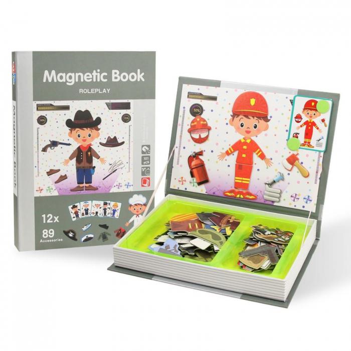 Joc educativ, Carte magnetica, Role Play, Meserii, 101 piese magnetice [4]