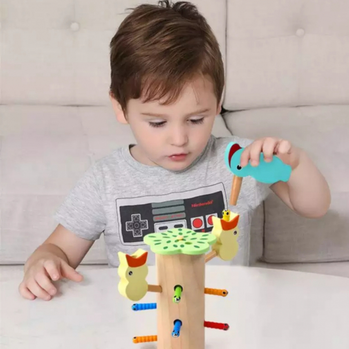 Joc educativ ciocanitoare magnetica, multicolor, JH-18 [1]